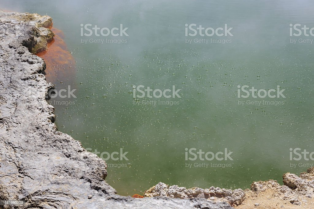 Steaming Water at Champagne Pool royalty-free stock photo