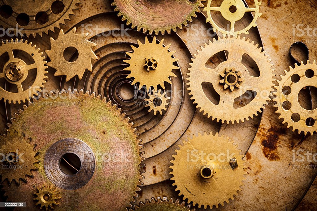 Steampunk background stock photo