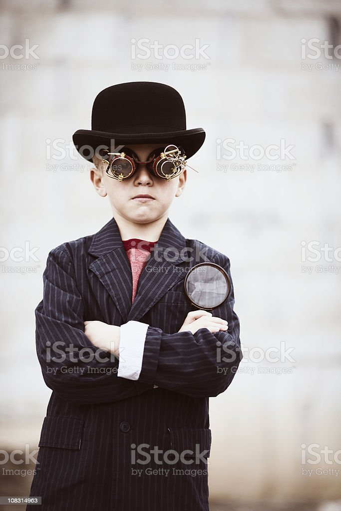 Steampunk Detective royalty-free stock photo