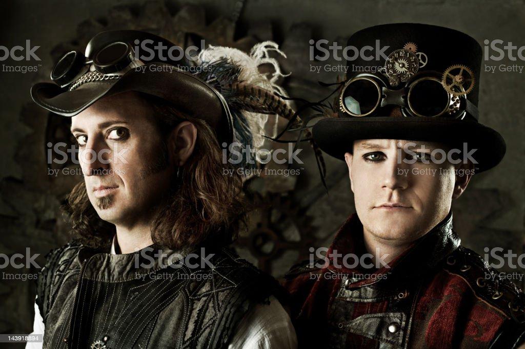 Steampunk Duo stock photo