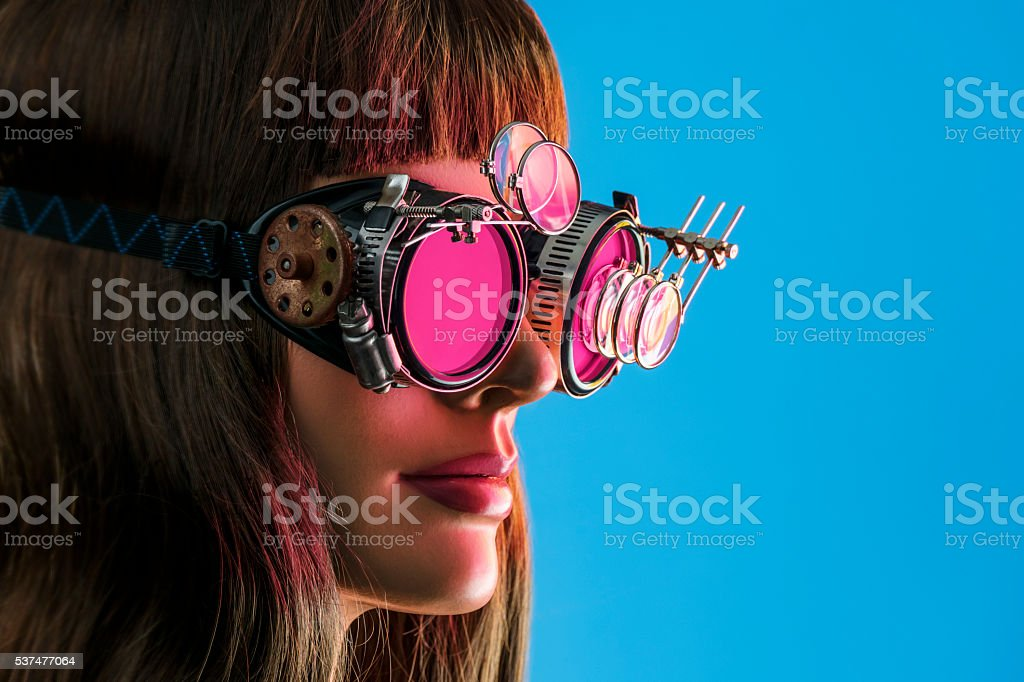 Steampunk Future Vision Girl stock photo