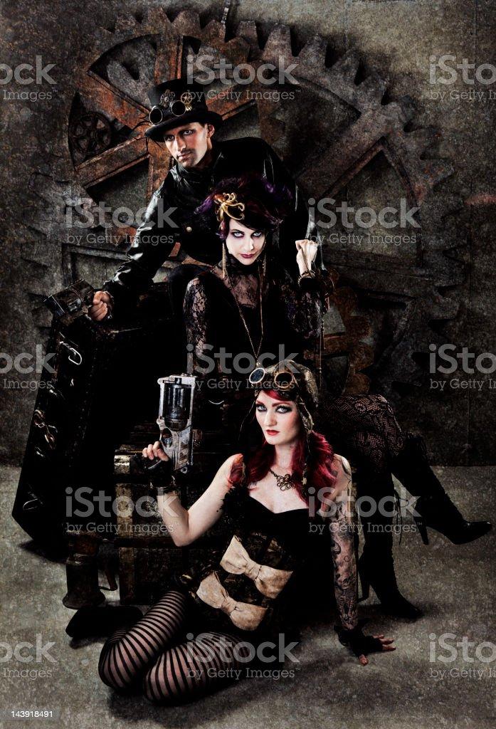 Steampunk Gang Portrait stock photo