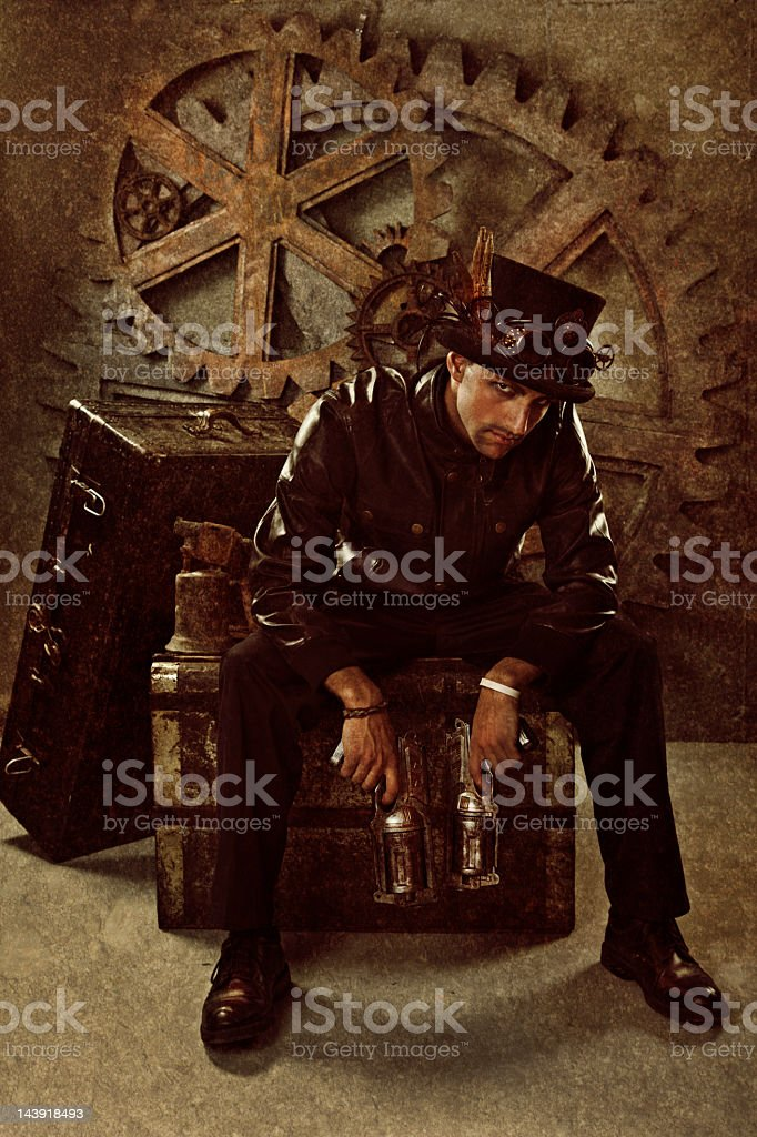 Steampunk Mad Hatter stock photo