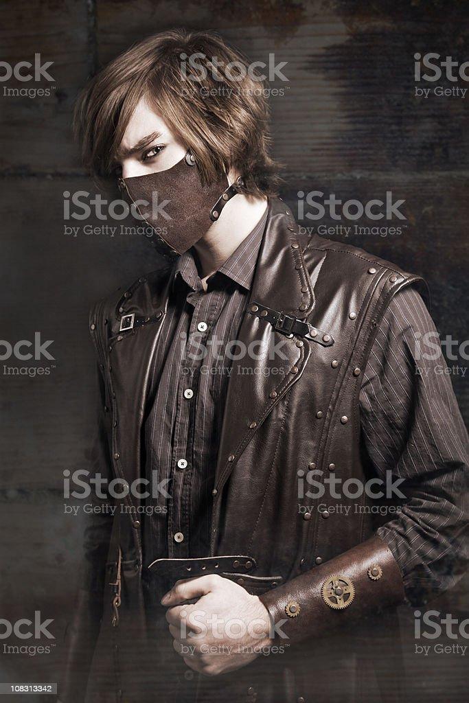 Steampunk Model stock photo