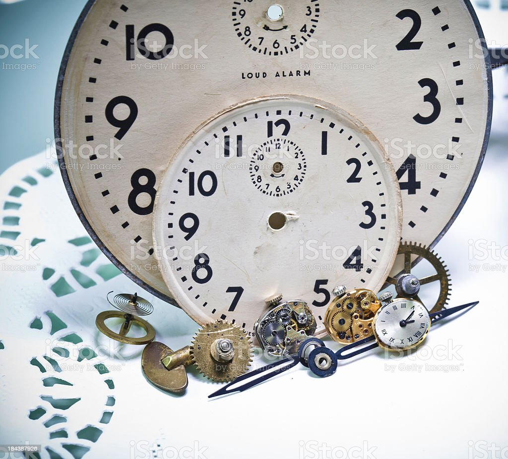 Steampunk Pieces of Time royalty-free stock photo