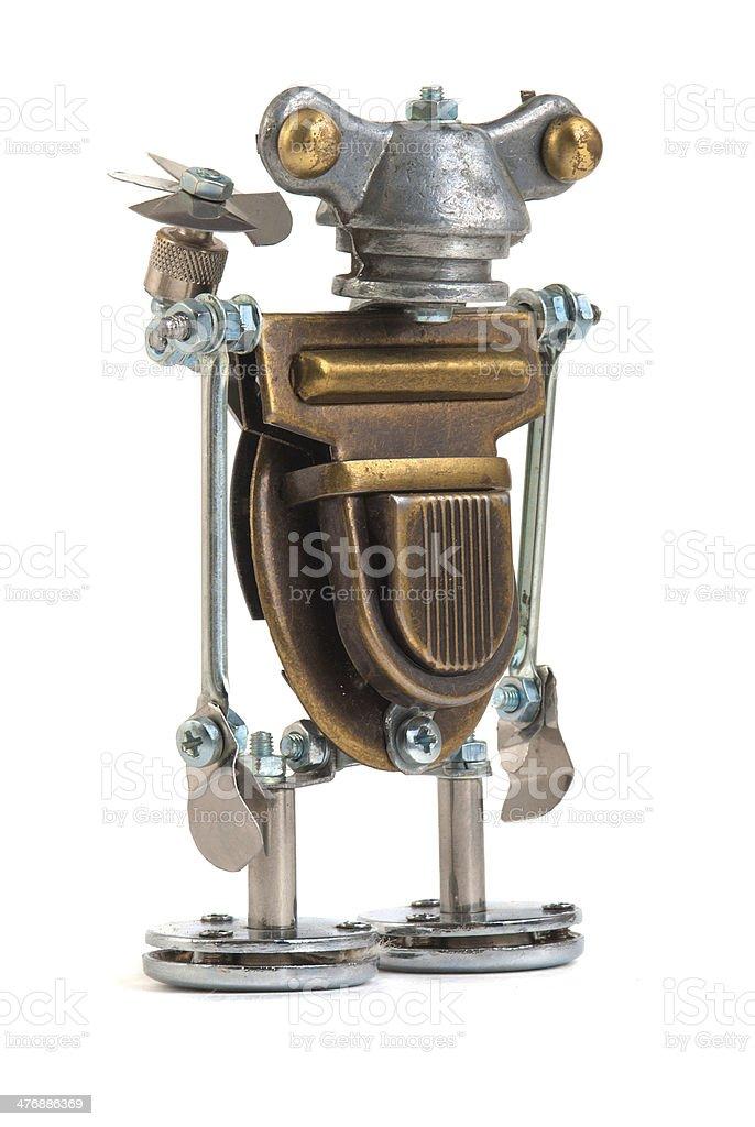 Steampunk robot. stock photo