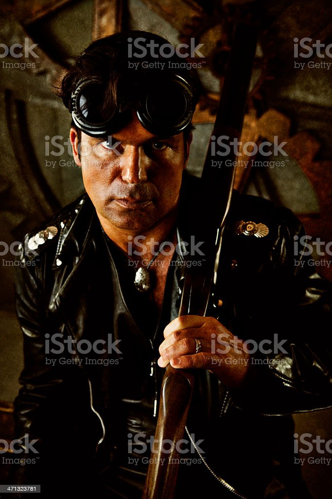 Steampunk Rugged Warrior royalty-free stock photo