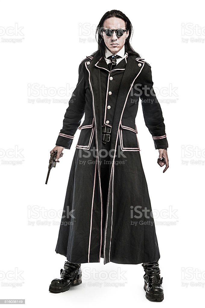 Steampunk Victorian Costume Character stock photo