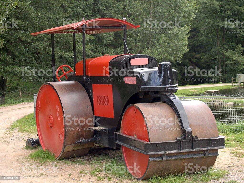 Steam-roller stock photo