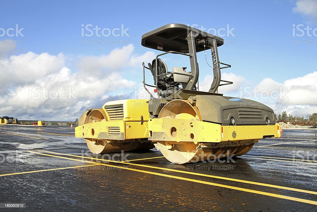 Steamroller stock photo