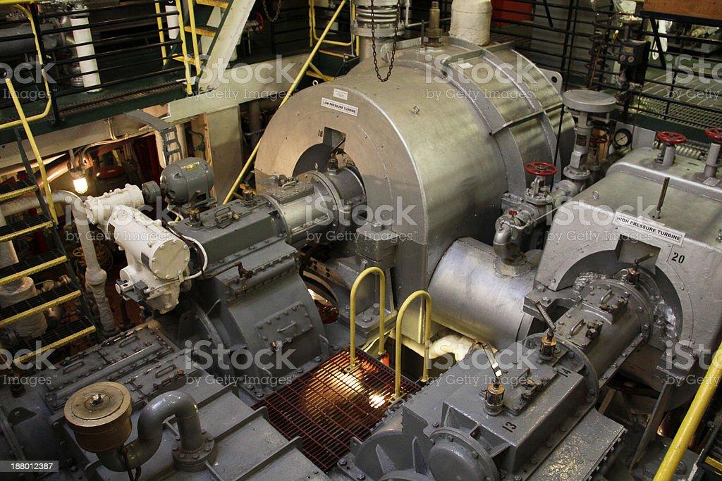 Steamship Engine Room stock photo
