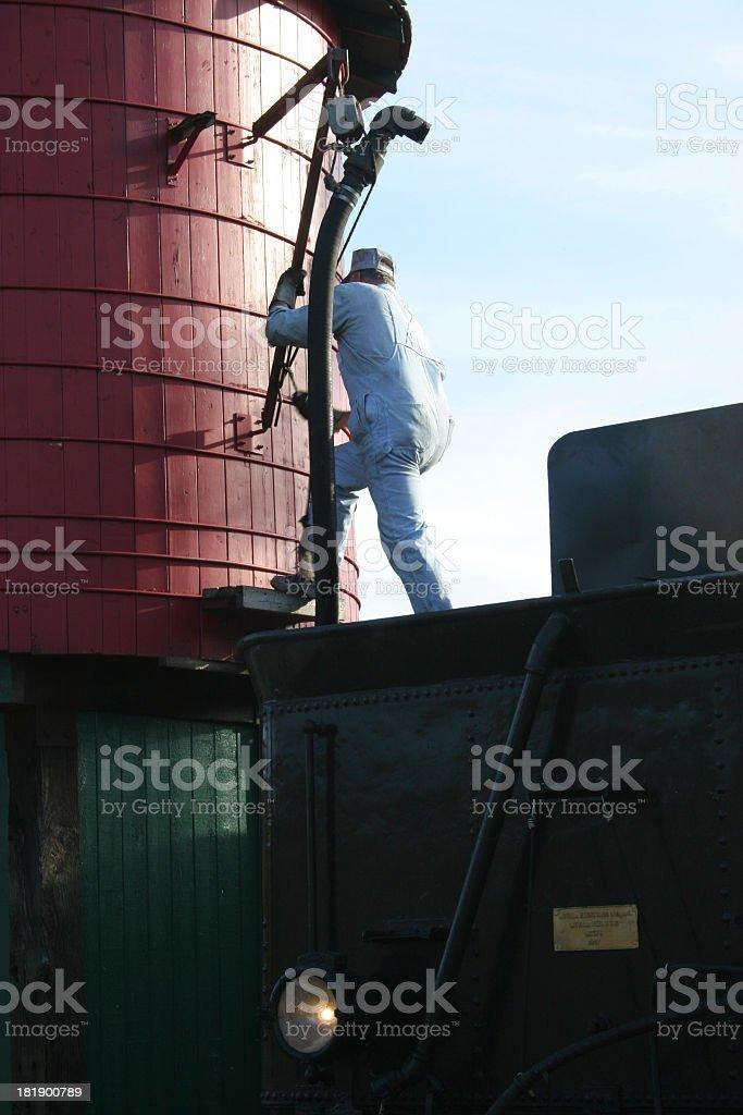 Steamtrain maintenance stock photo