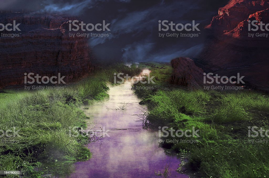 Steamy Colorado River stock photo