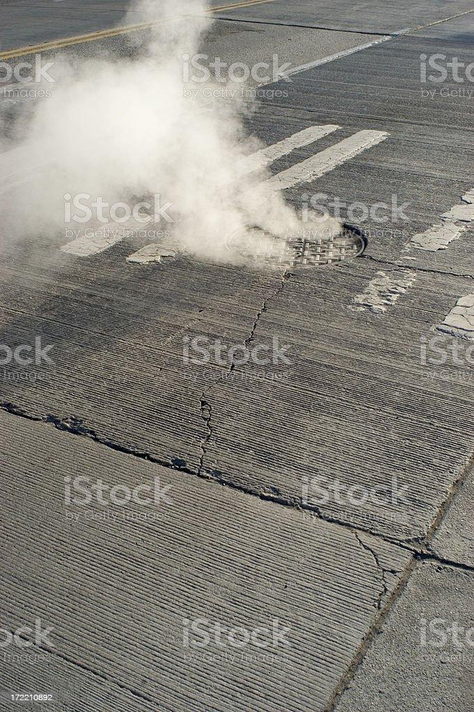 Steamy Crosswalk royalty-free stock photo