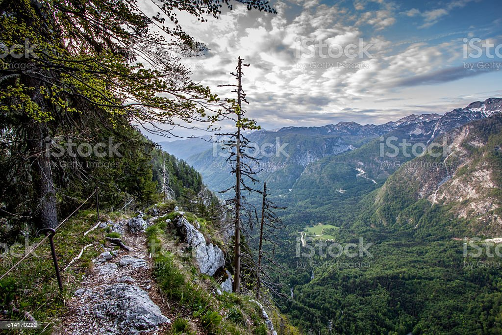steap path stock photo