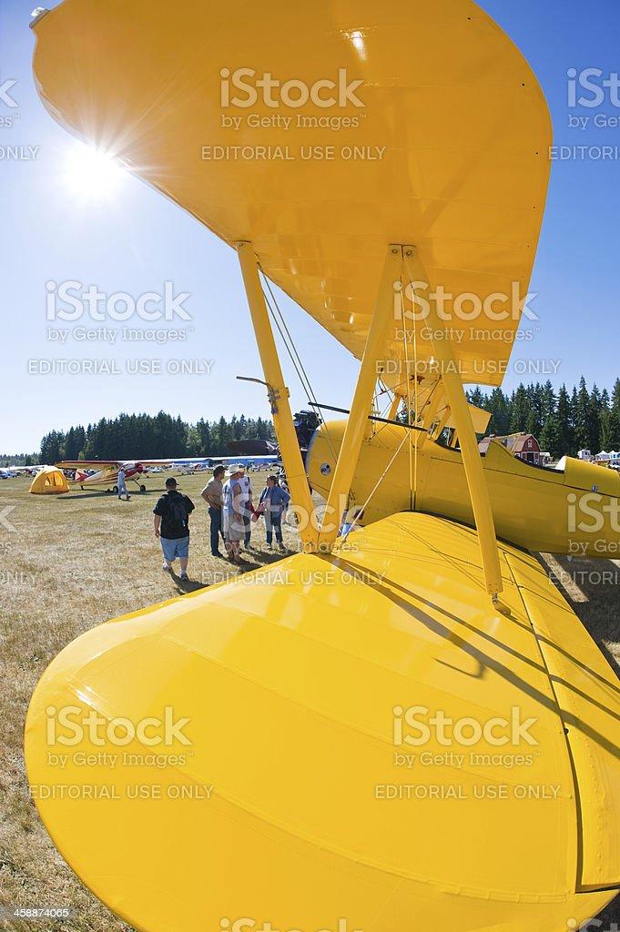 Stearman Biplane royalty-free stock photo