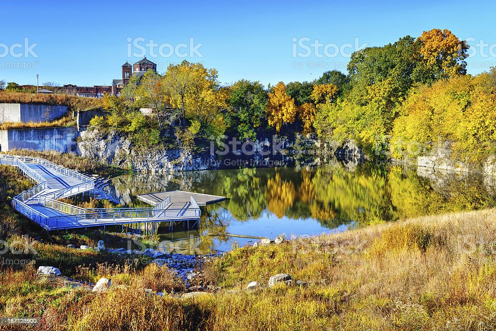 Stearns Quarry in  Palmisano Park,  Bridgeport, Chicago stock photo