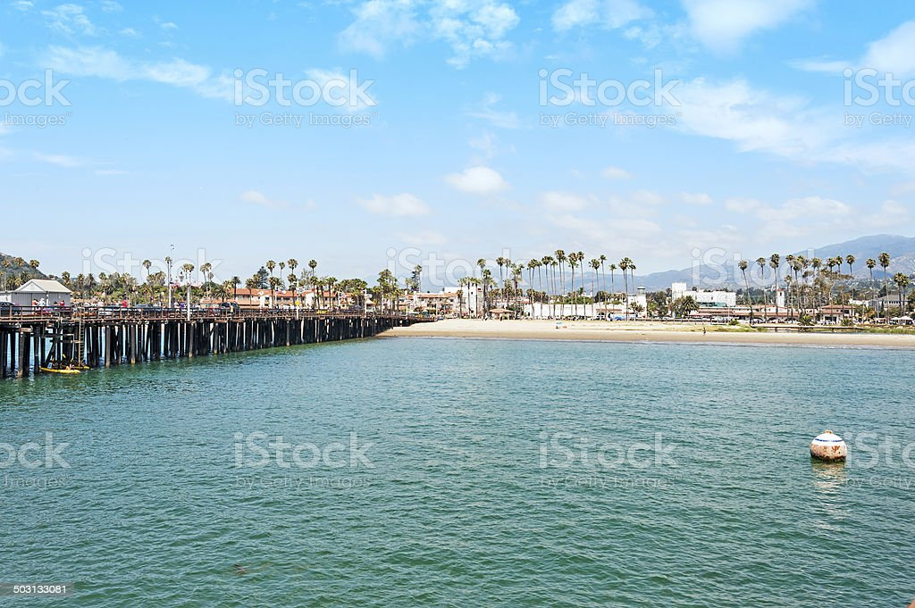 Stearns Wharf and Waterfront stock photo