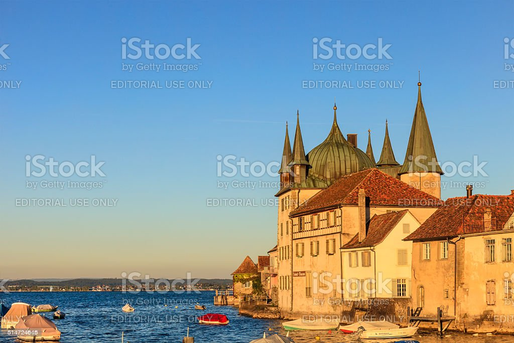 Steckborn,  the Turmhof - Lake Constance, Switzerland stock photo