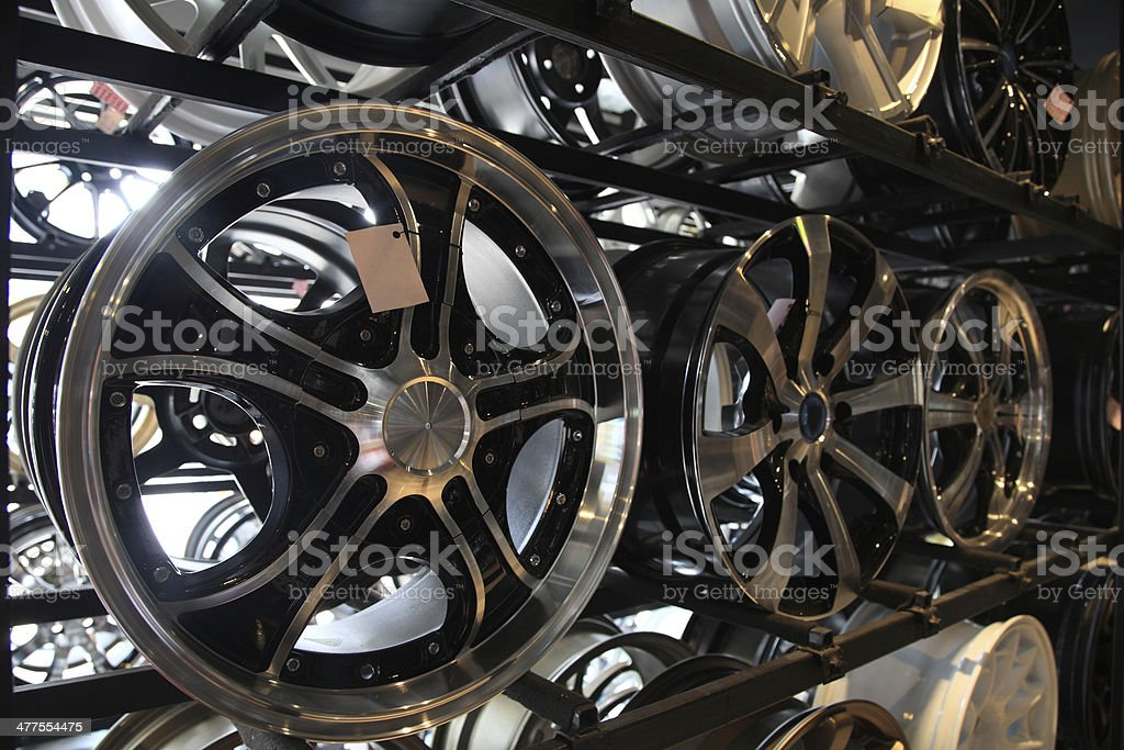 steel alloy car disks royalty-free stock photo