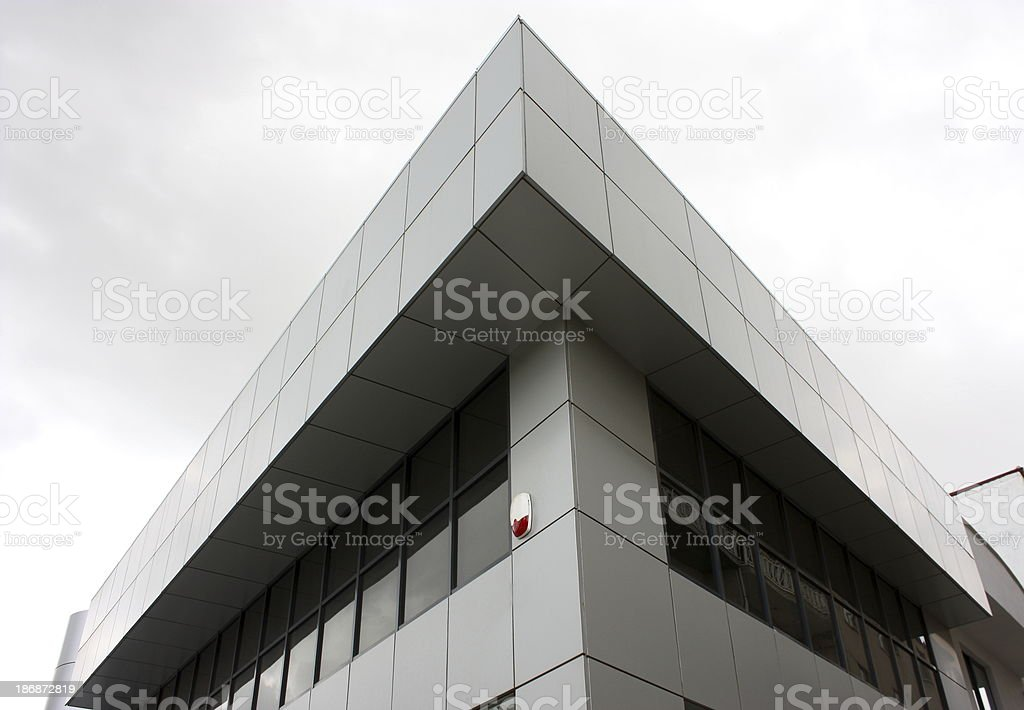 Steel and glass building stock photo