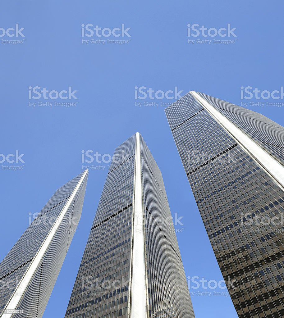 Steel and glass business skyscrapers royalty-free stock photo