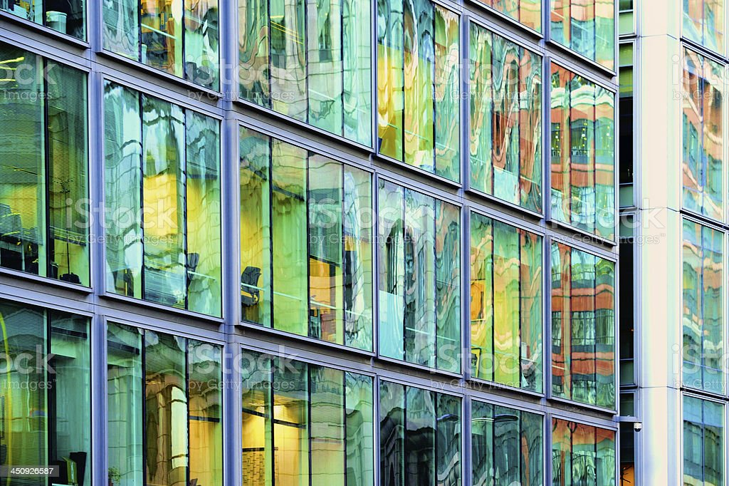 Steel and glass finance building royalty-free stock photo