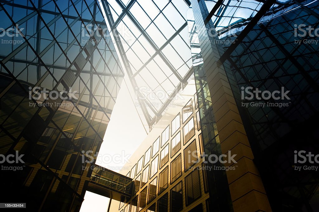 Steel and glass, Frankfurt, Germany royalty-free stock photo