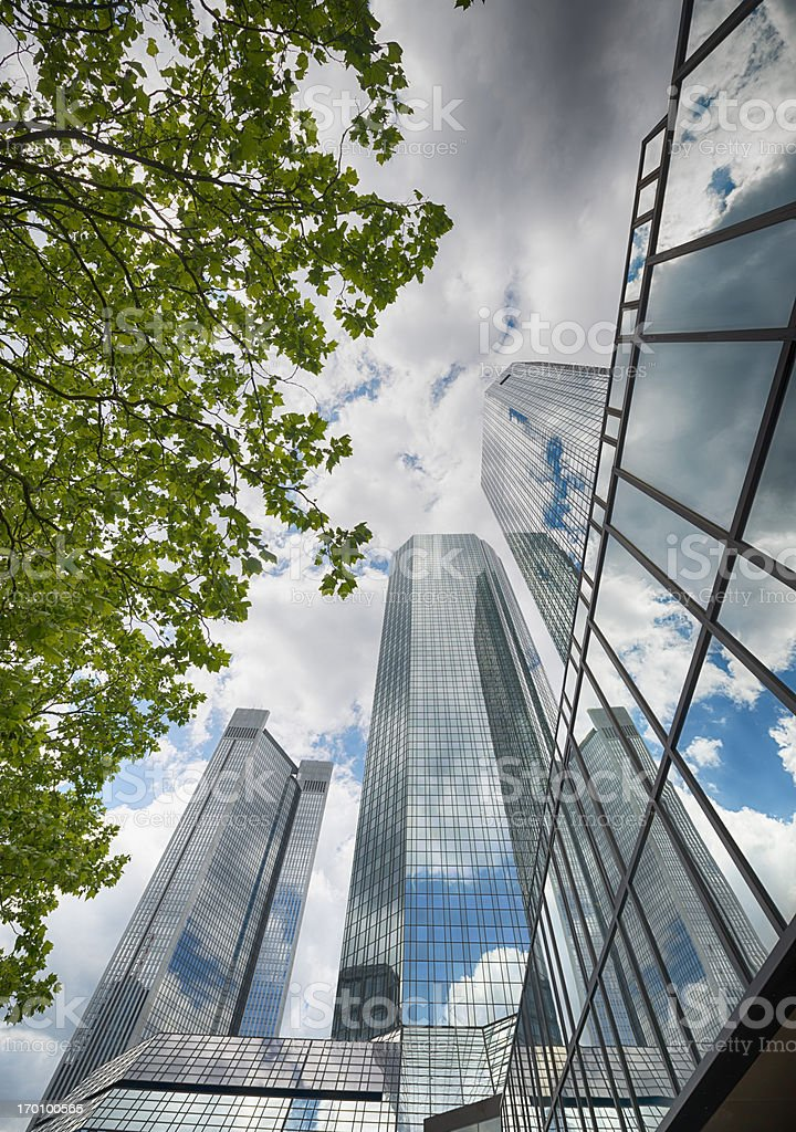 steel and glass office building royalty-free stock photo