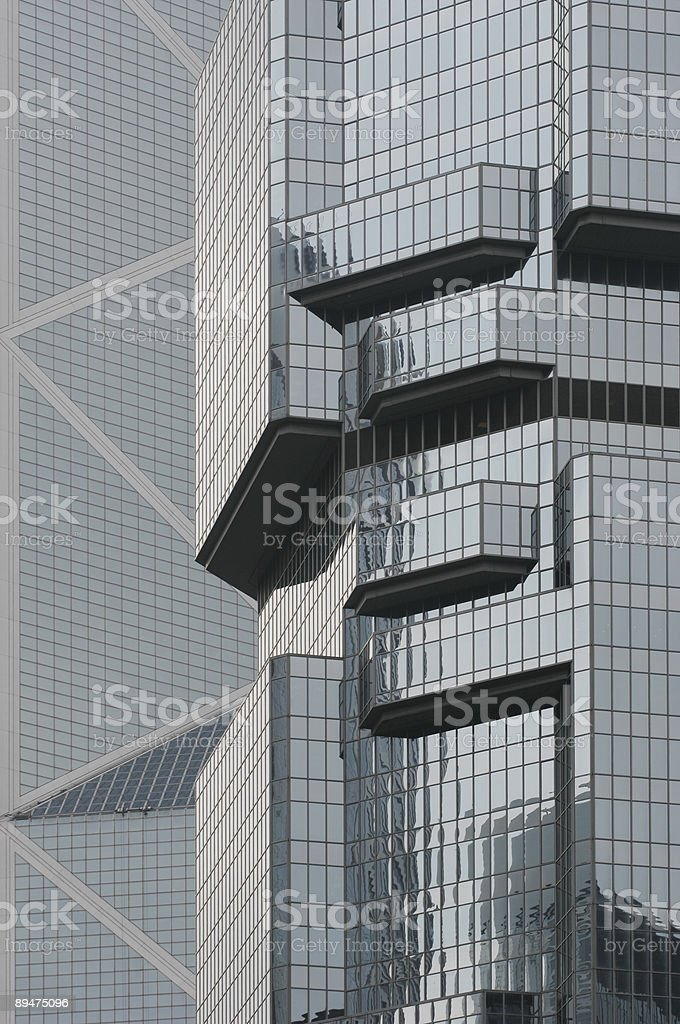 Steel and glass office skyscrapers stock photo