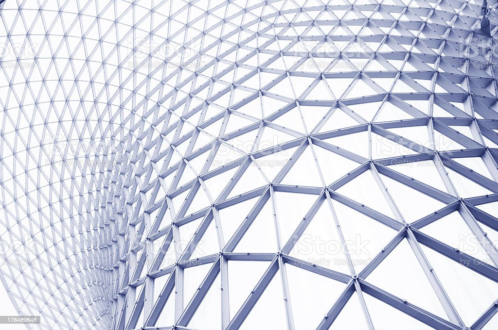 Steel and glass outer wall royalty-free stock photo