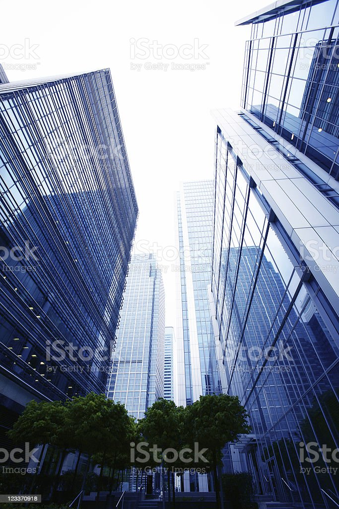 steel and glass royalty-free stock photo