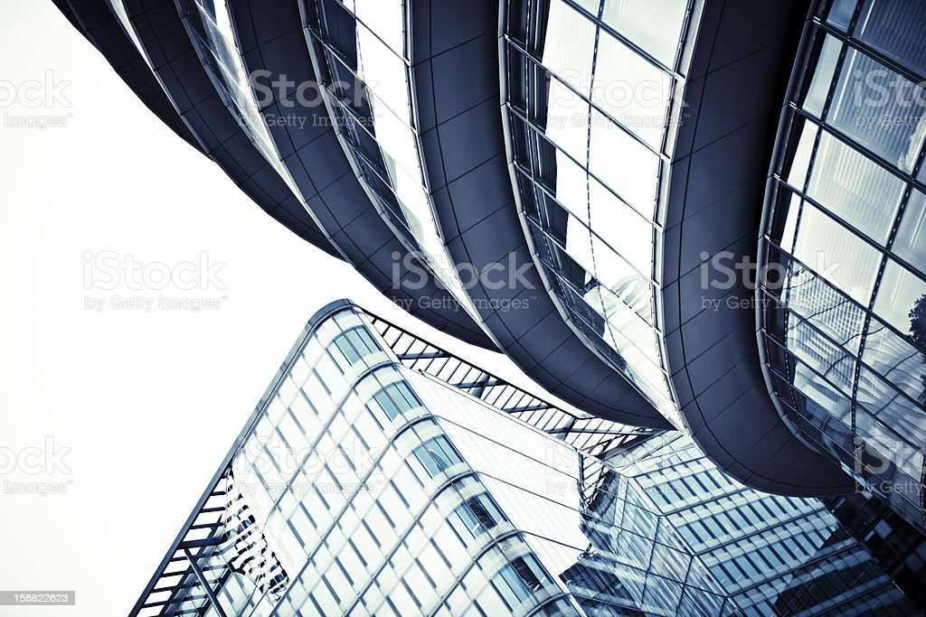 steel and glass stock photo