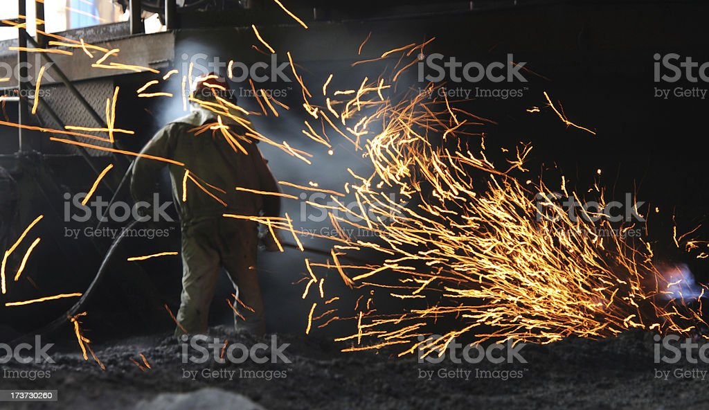 Steel and iron worker is working royalty-free stock photo