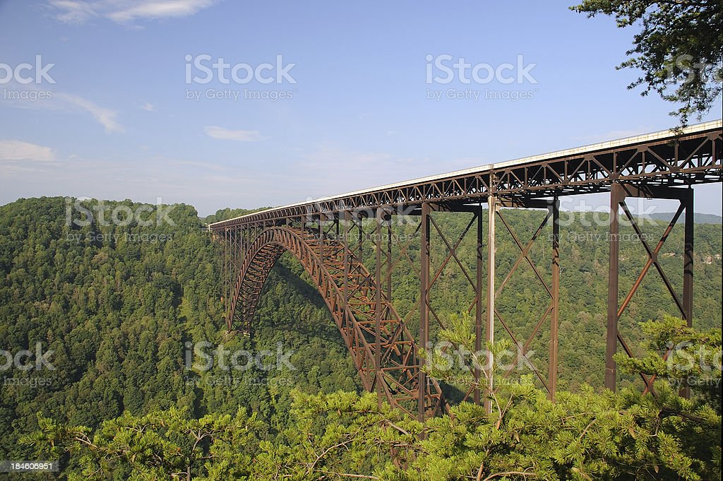 Steel Arch Bridge stock photo