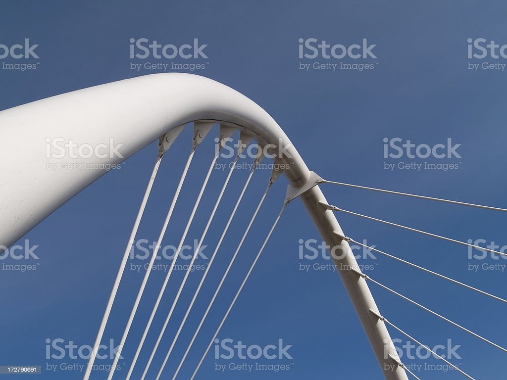 Steel arch stock photo