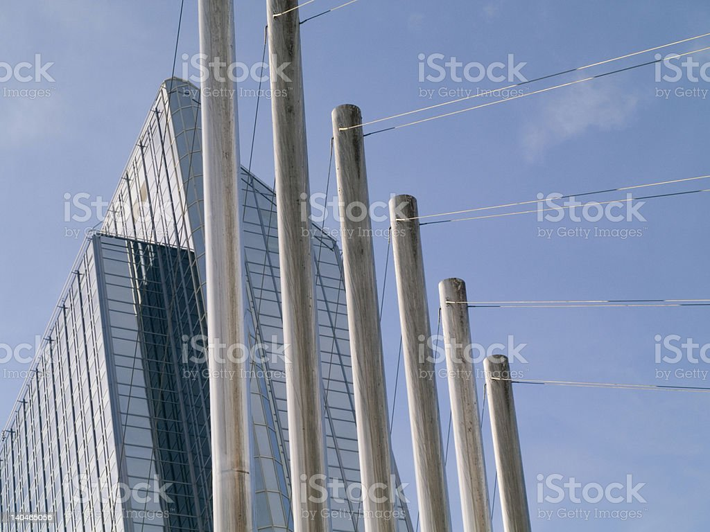 Steel bars and building royalty-free stock photo