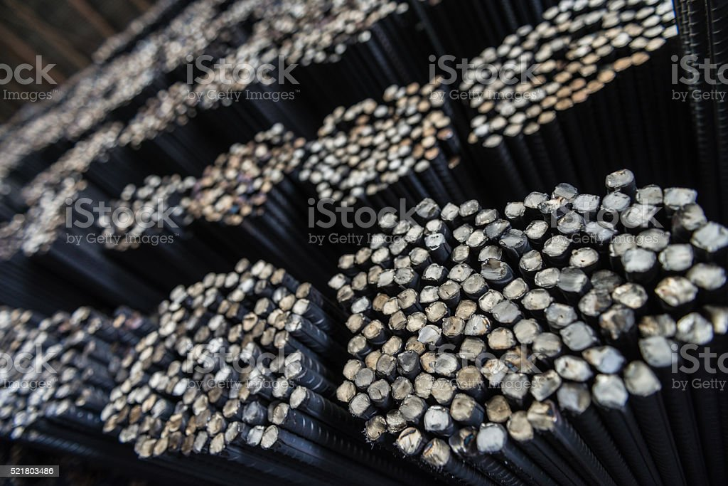 Steel Bars stock photo