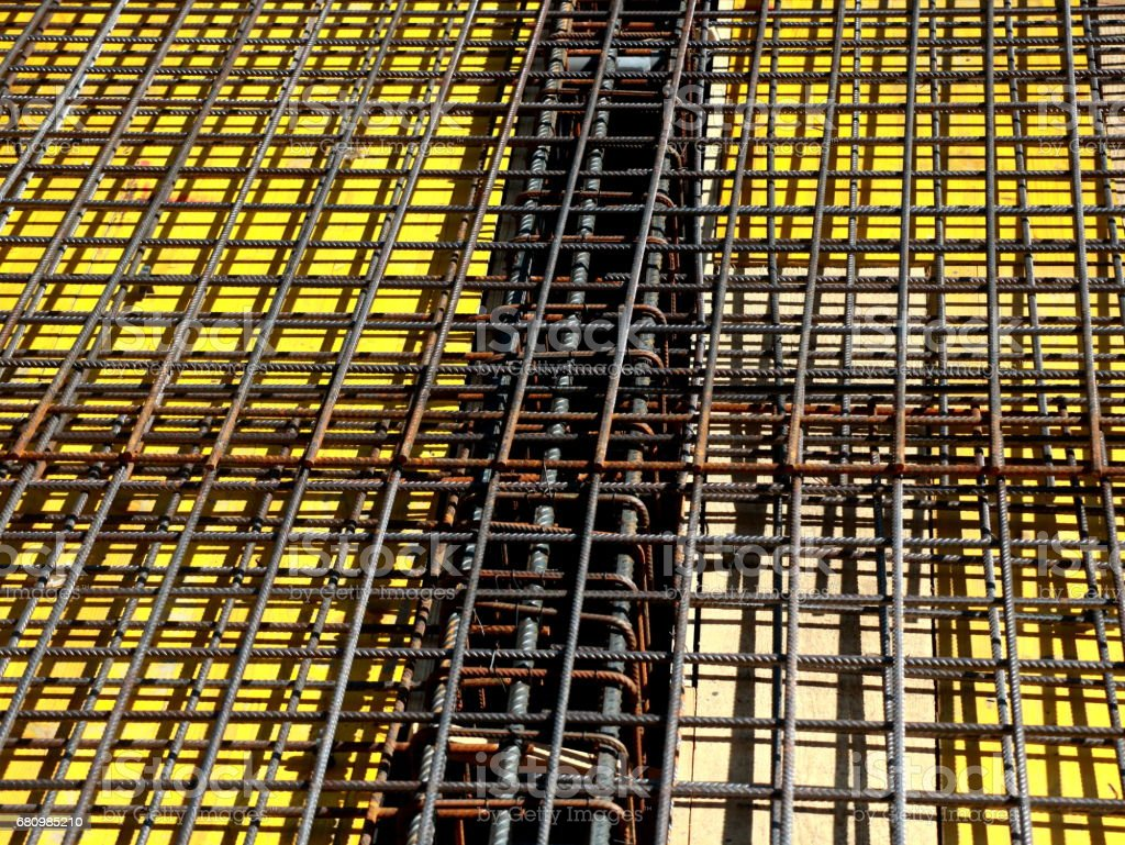 Steel bars reinforcement stock photo