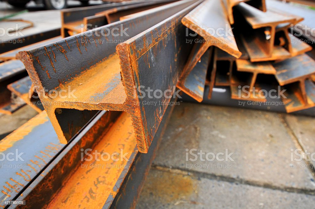 steel beams royalty-free stock photo