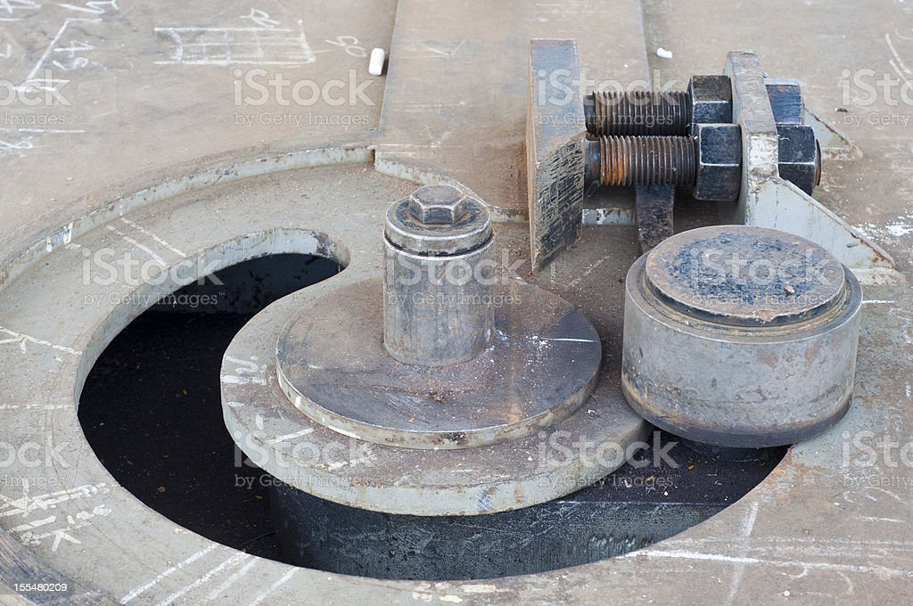 Steel bending machine. royalty-free stock photo
