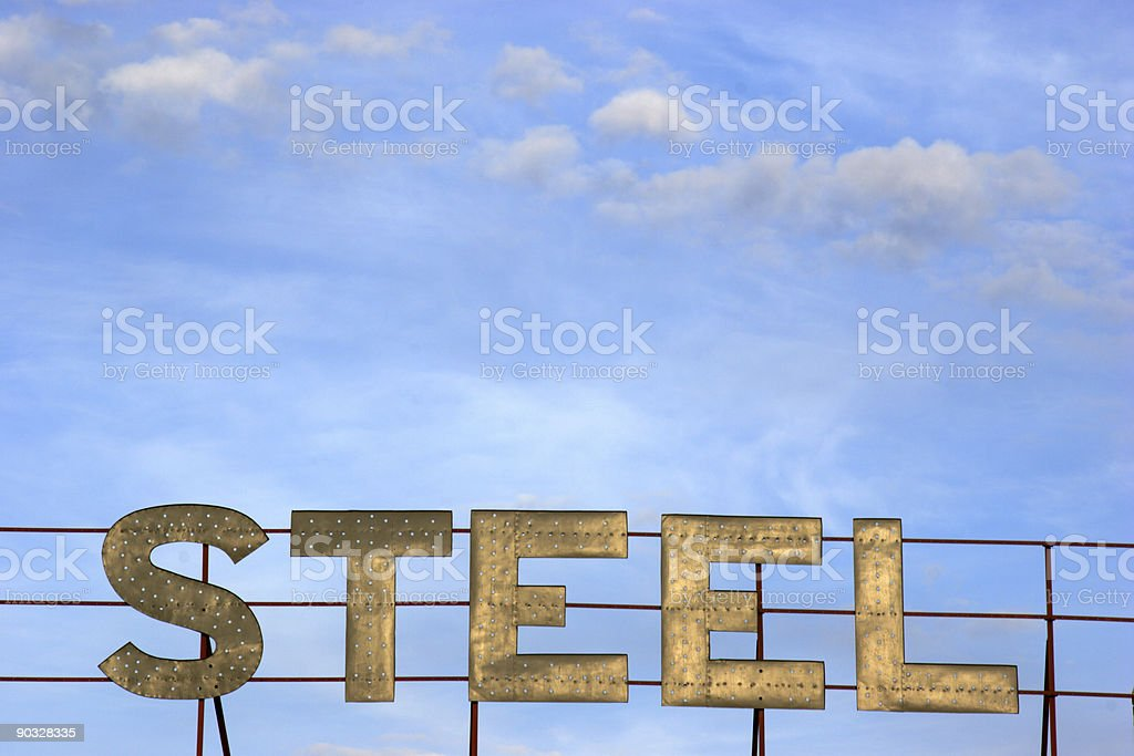 steel blue sky royalty-free stock photo