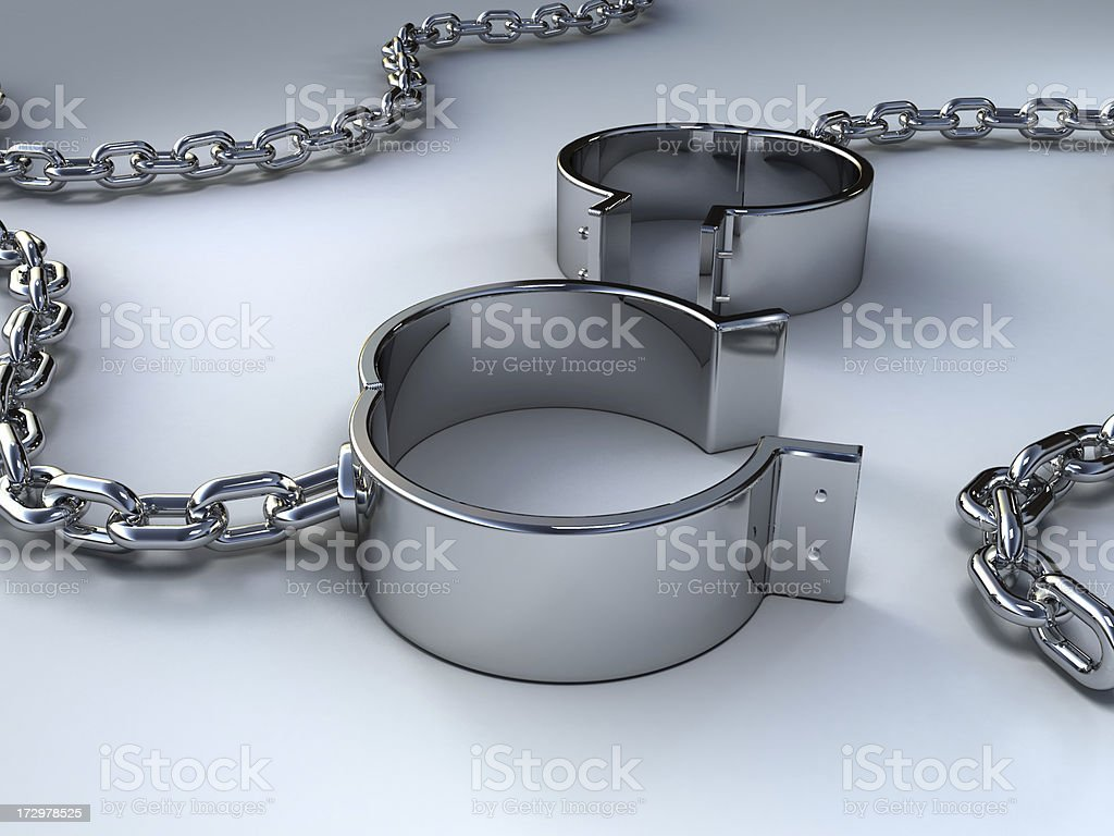 Steel bracelet stock photo