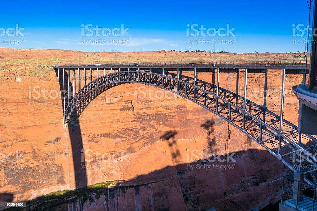 Steel Bridge over Colorado River stock photo