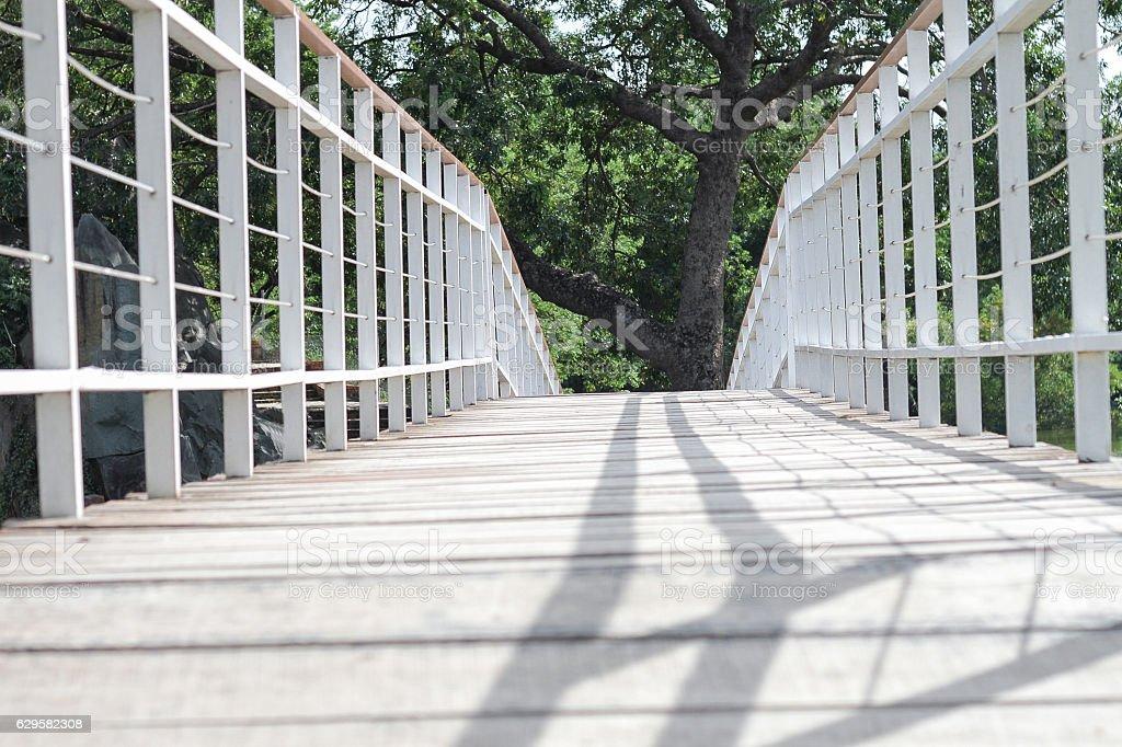 steel bridge. stock photo