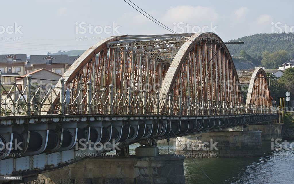 Steel Bridge (Colindres - Cantabria) stock photo