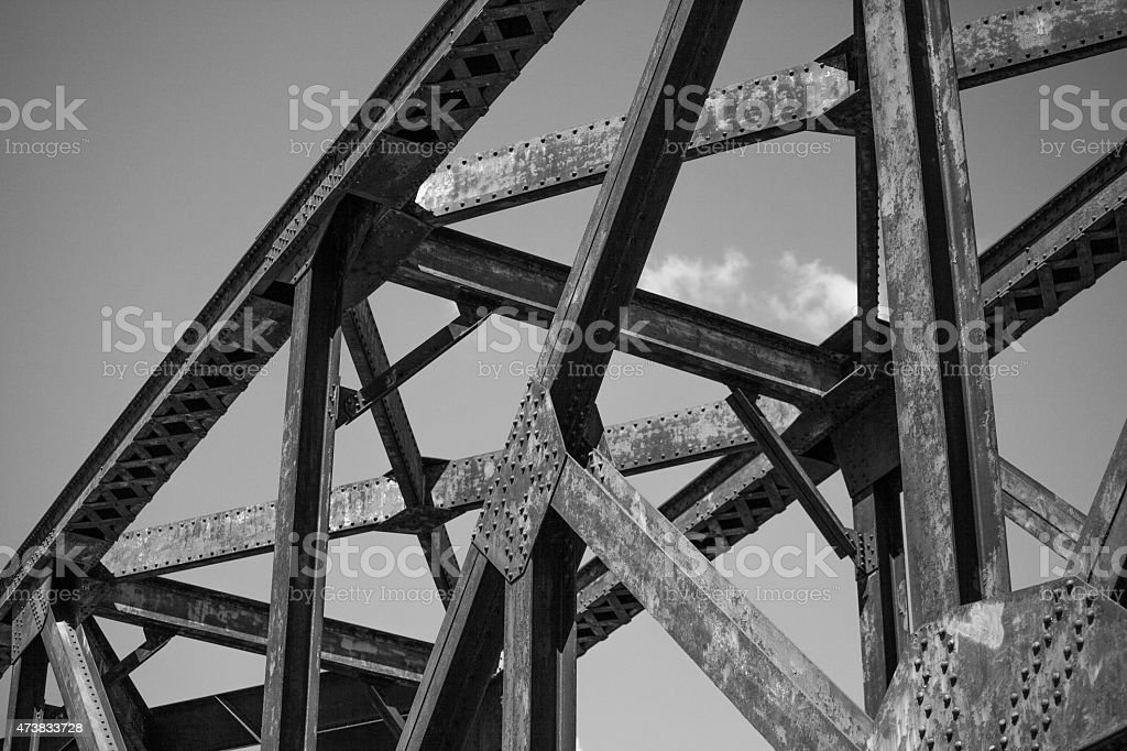 Steel Bridge Struture stock photo