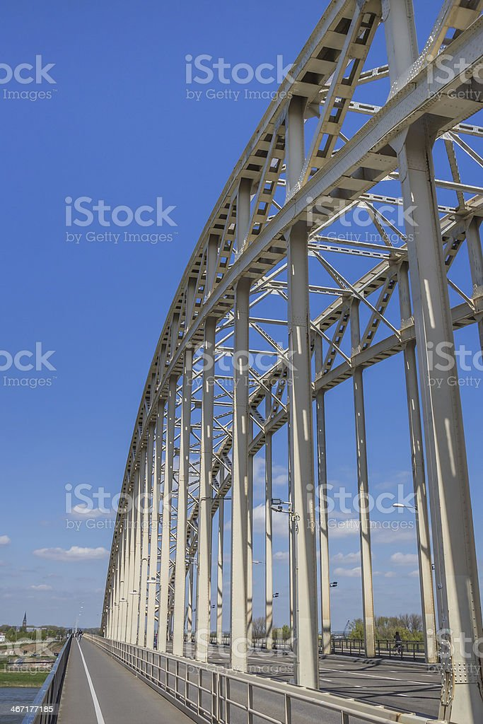 Steel brigde stock photo