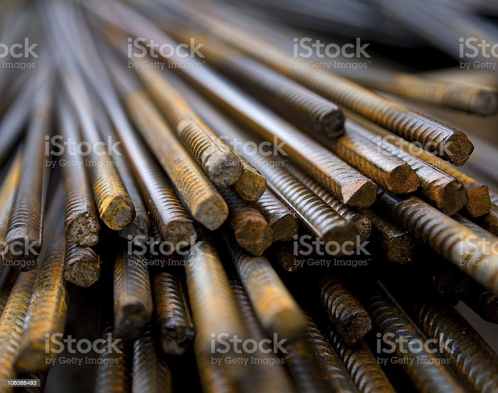 Steel building armature stock photo