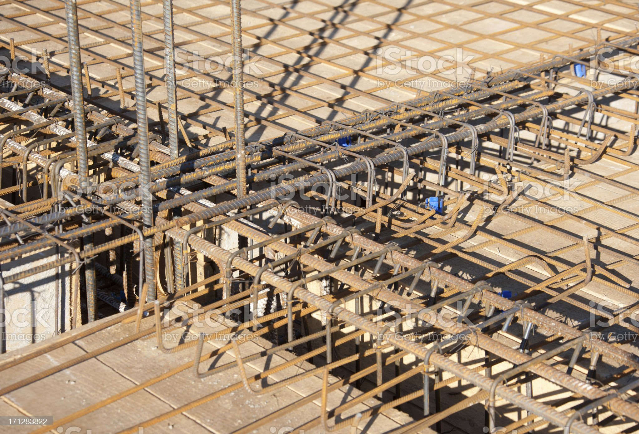 Steel building armature royalty-free stock photo